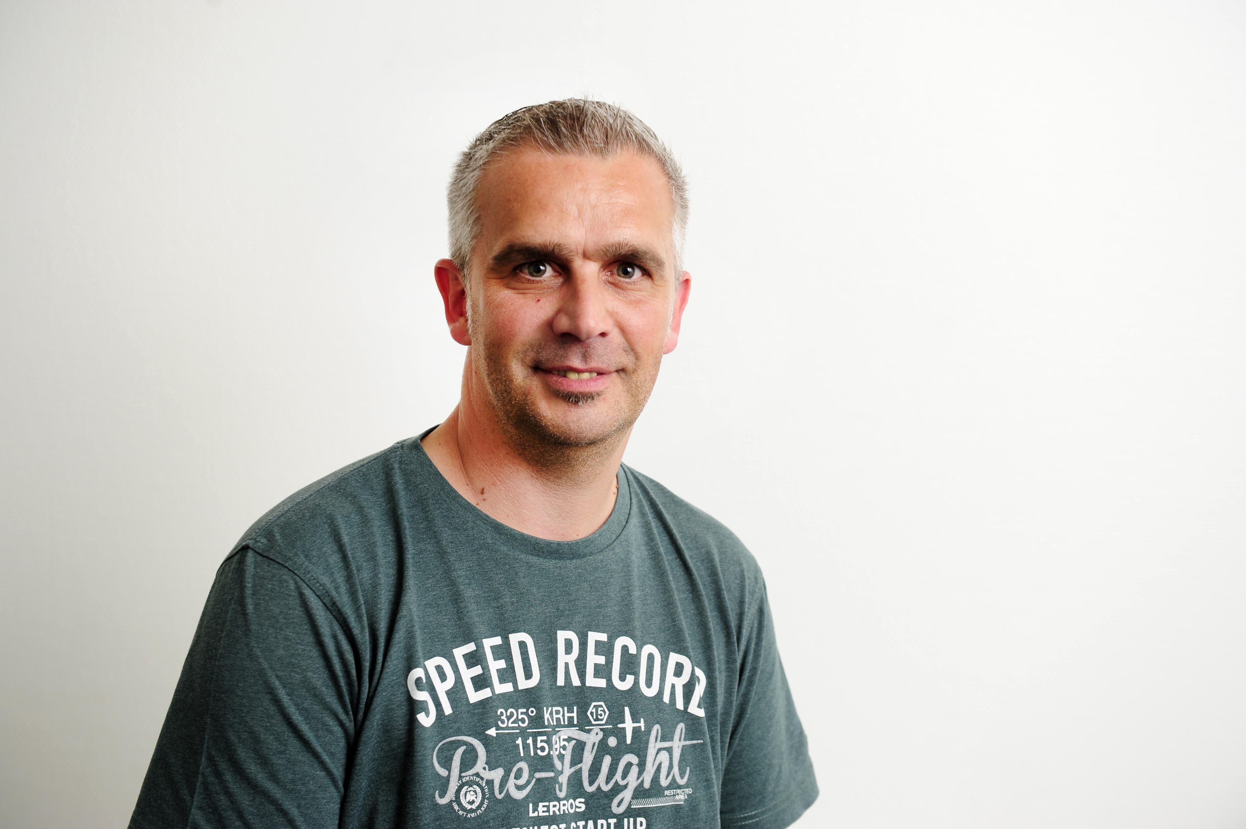 Portrait von HAZ Redakteur Uwe Kranz (Foto/Alexander Körner)