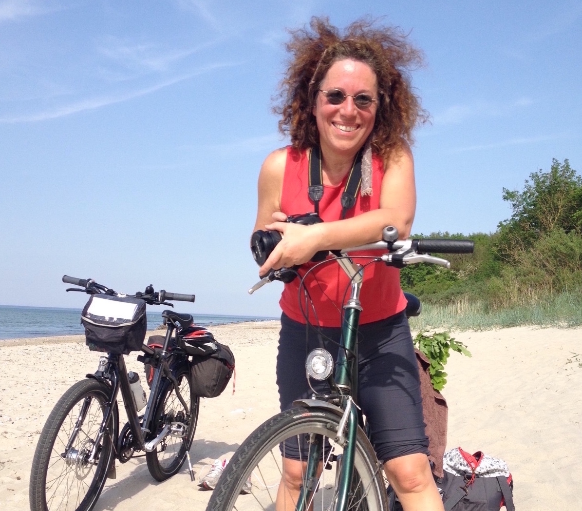Auf dem Ostseeradweg, Petra Haase